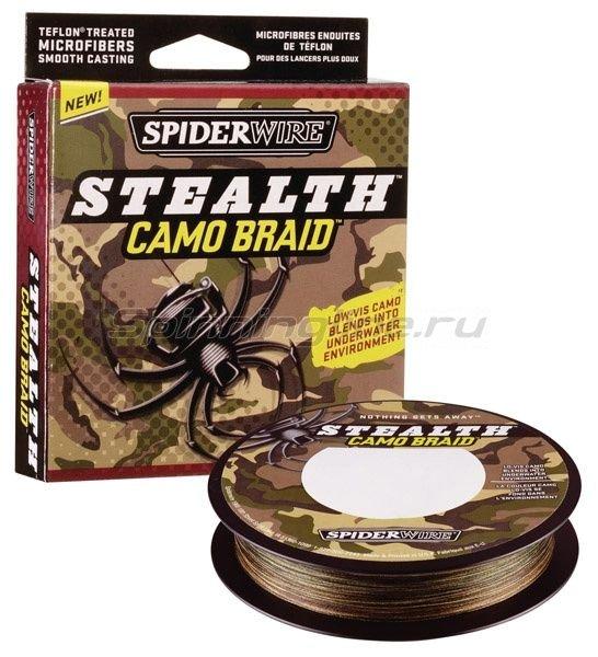 Spiderwire - Шнур Stealth 110м 0,30мм Camo - фотография 1