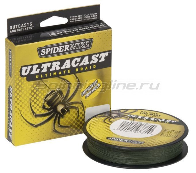 Spiderwire - Шнур Ultra Cast 1800м 0,12мм Lo-Vis Green - фотография 1