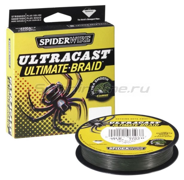 Spiderwire - Шнур Ultra Cast 8 Carrier Ultimate Braid Green 110м 0.25мм - фотография 1