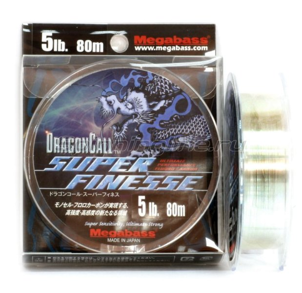 Megabass - Флюорокарбон Dragoncall Super Finesse 80м 0,128мм - фотография 2