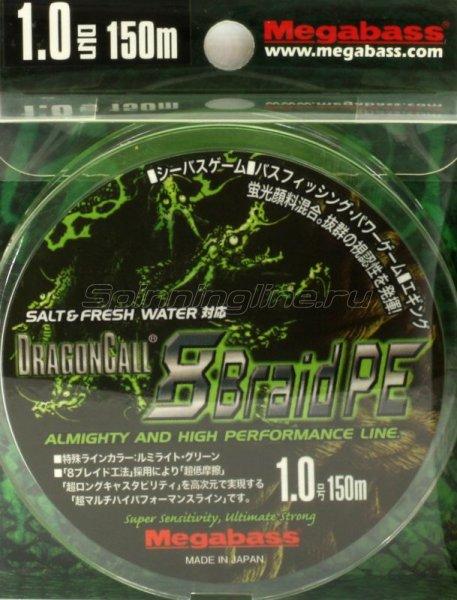 Megabass - Шнур Dragoncall 8braid PE 150м 0.8 - фотография 1