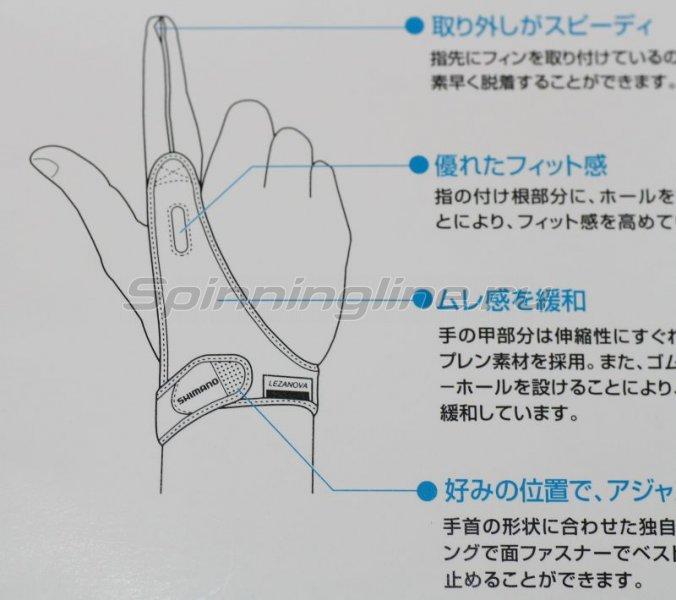 Перчатка кастинговая Shimano GL-042C черный L - фотография 2