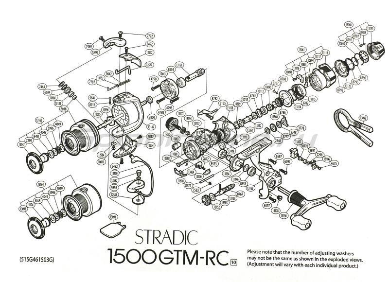 Shimano - Катушка Stradic GTM 2500 RC - фотография 9