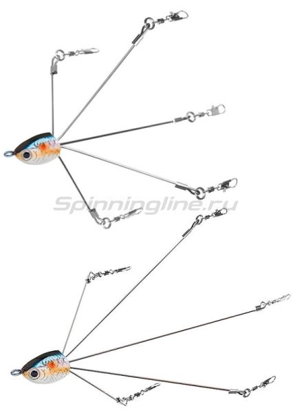 Алабамская оснастка Lucky Craft Bevy Rig 5/16 250 Chartreuse Shad -  2