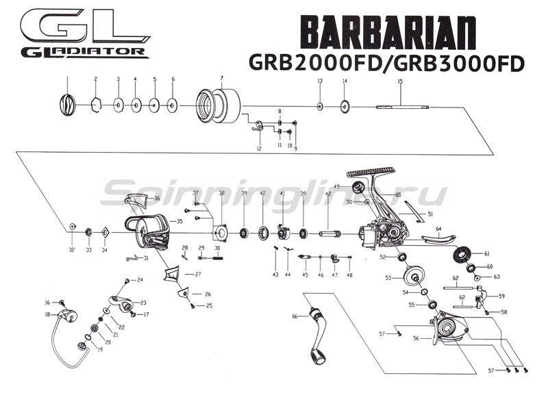 Gladiator - Катушка Barbarian 2000 FD - фотография 6