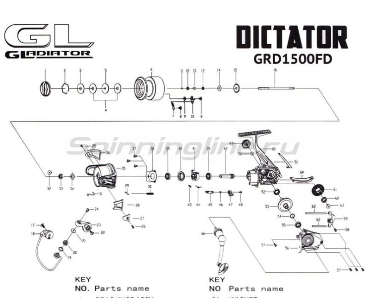 Gladiator - Катушка Dictator 1500 FD - фотография 6