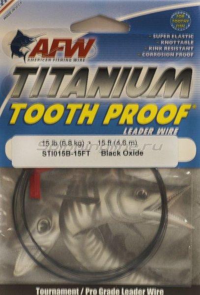 Поводковый материал AFW Titanium Tooth Proof 14кг, 4.6м - фотография 1