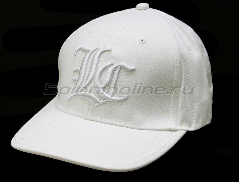 Кепка Lucky Craft Pop Flex Fit Cap Center white&white -  1