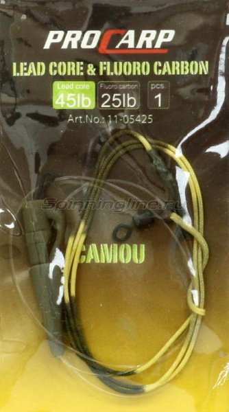 Cormoran - Монтаж Lead Core-Fluorocarbon Combi 60 см camo 25-45lb - фотография 1