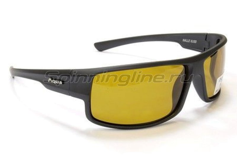 Очки Aqua Nalle Dk.Grey Matt PL Yellow -  1