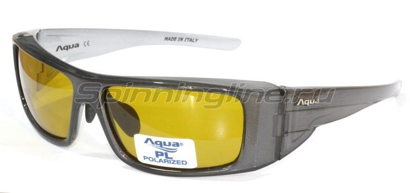 Очки Aqua Ocean Pearl Grey PL Yellow - фотография 1