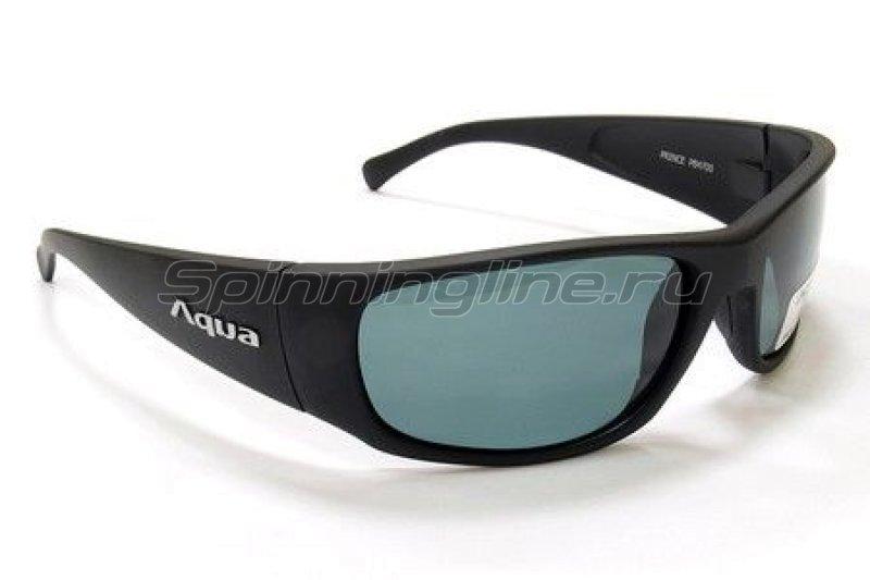 Очки Aqua Prince Matt Black PL Grey -  1