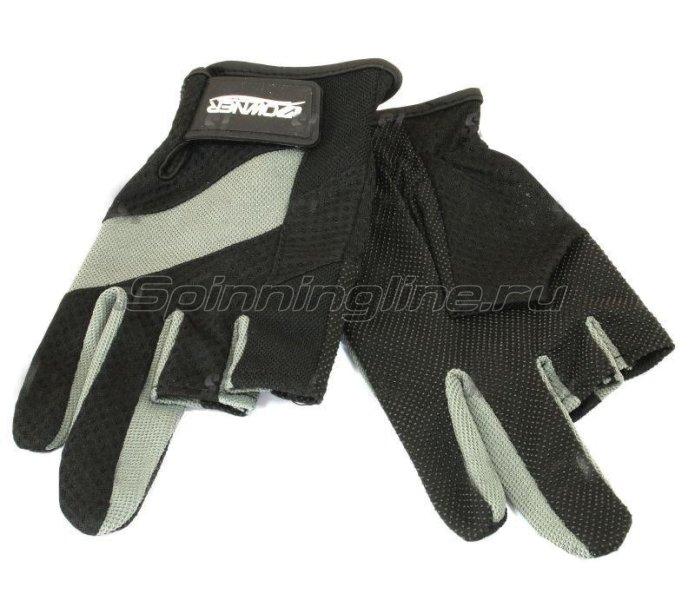 Owner - Перчатки без трех пальцев L черно-серый - фотография 1
