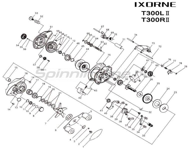 Катушка Ixorne T300IIR -  3
