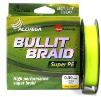Шнур Allvega Bullit Braid Hi-Vis Yellow 92м 0,30мм