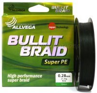 Шнур Allvega Bullit Braid Dark Green 270м 0,26мм