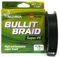 Шнур Allvega Bullit Braid Dark Green 270м 0,30мм