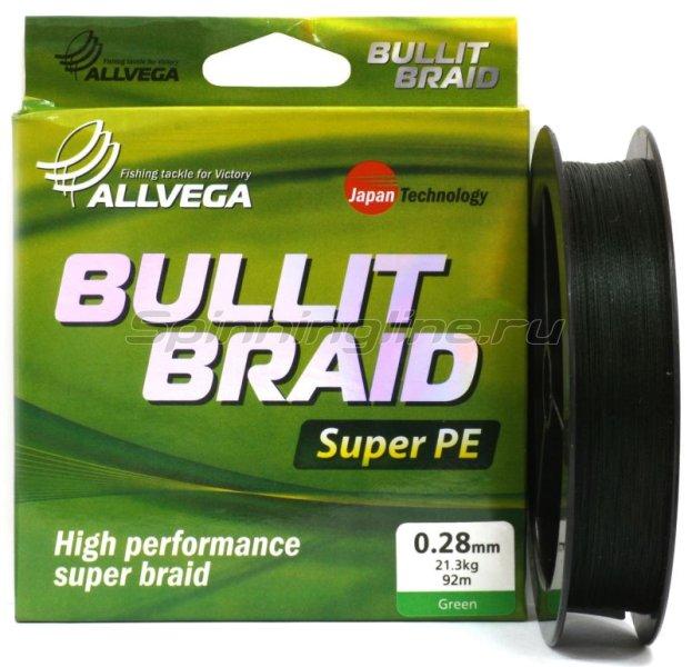 Шнур Bullit Braid Dark Green 270м 0,30мм -  1