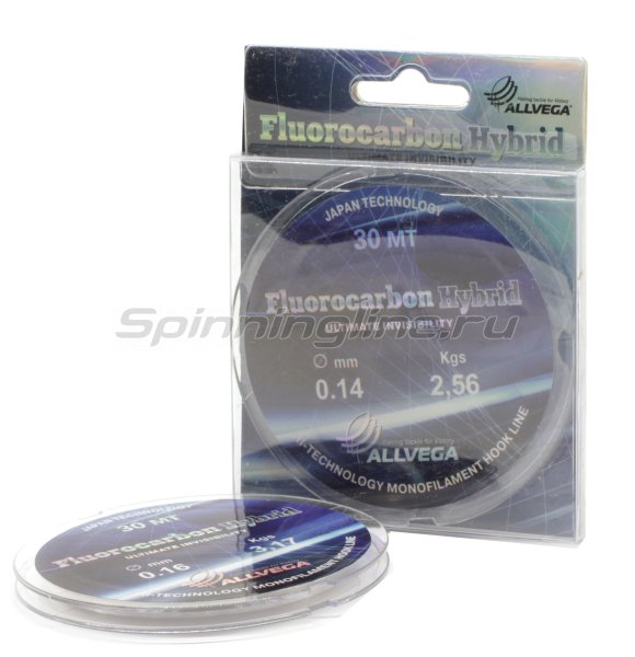 Флюорокарбон Allvega Fluorocarbon Hybrid 30м 0,12мм -  1