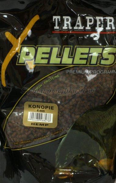 Прикормка Traper Pellets Конопля 4мм 1кг -  1