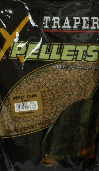 Прикормка Traper Pellets Кукуруза 4мм 1кг - фотография 1