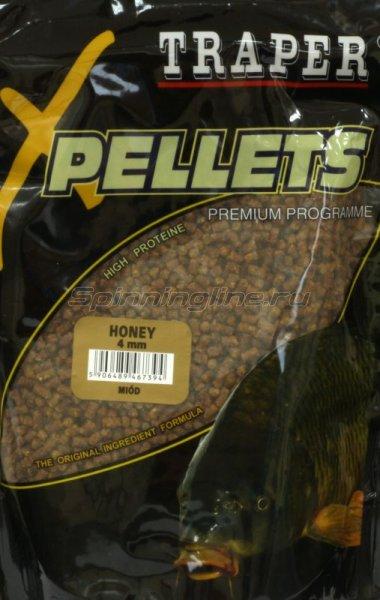 Прикормка Traper Pellets Мед 4мм 1кг -  1