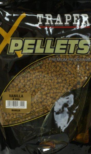 Прикормка Traper Pellets Ваниль 4мм 1кг -  1