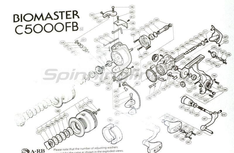 Shimano - Катушка Biomaster C 5000 FB - фотография 6