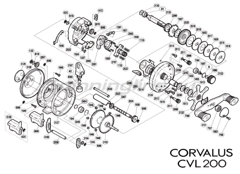 Катушка Corvalus 200 RH -  5