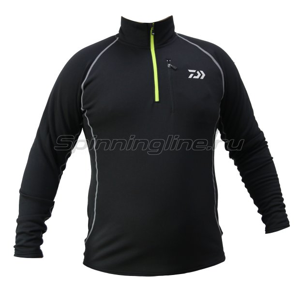 Куртка Daiwa Breathmagic Half Zip Jacket Black-Lime XL - фотография 1