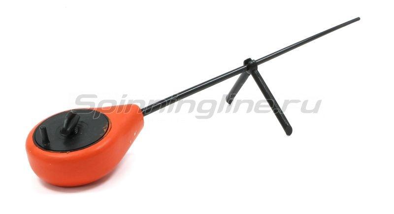 Удочка зимняя балалайка Спорт с подножкой красная -  3