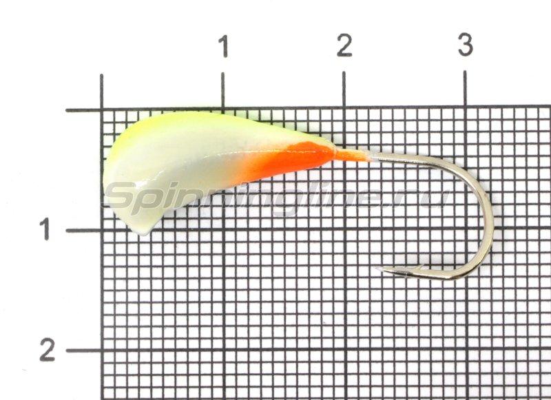 Fish Gold - Мормышка судаковая Трехгранка Светлячок кр. Gamakatsu 6 гр 07 лимонный - фотография 1