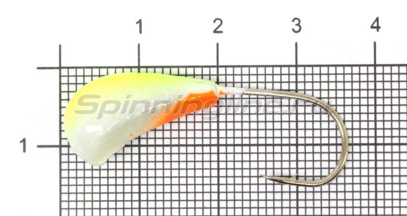Fish Gold - Мормышка судаковая Трехгранка Светлячок кр. Gamakatsu 8гр 07 лимонный - фотография 1