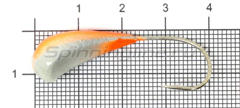 Fish Gold - Мормышка судаковая Трехгранка Светлячок кр. Gamakatsu 10гр 10 красный - фотография 1