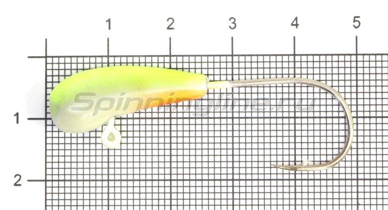 Fish Gold - Мормышка судаковая Уралка Светлячок кр. Gamakatsu 12гр лимонный - фотография 1