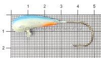 Мормышка судаковая Уралка Светлячок кр. Gamakatsu 12гр синий
