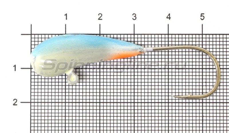 Fish Gold - Мормышка судаковая Уралка Светлячок кр. Gamakatsu 16гр синий - фотография 1