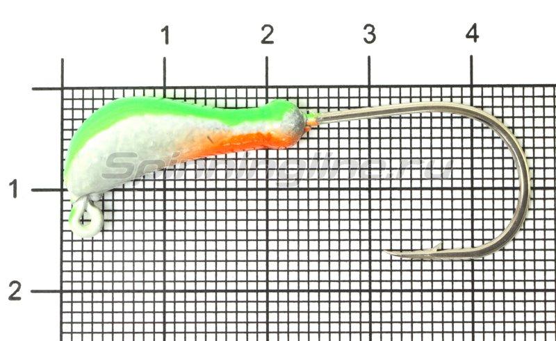 Fish Gold - Мормышка судаковая Банан Светлячок кр. Gamakatsu 7гр зеленый - фотография 1
