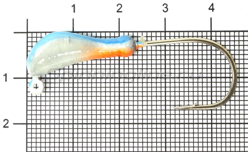 Fish Gold - Мормышка судаковая Банан Светлячок кр. Gamakatsu 7гр синий - фотография 1