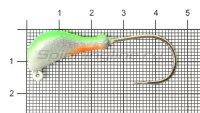 Мормышка судаковая Банан Светлячок кр. Gamakatsu 11гр зеленый