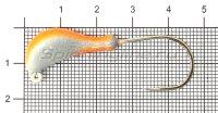 Мормышка судаковая Банан Светлячок кр. Gamakatsu 11гр красный