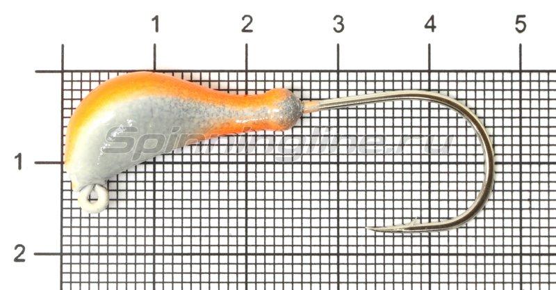 Fish Gold - Мормышка судаковая Банан Светлячок кр. Gamakatsu 11гр красный - фотография 1