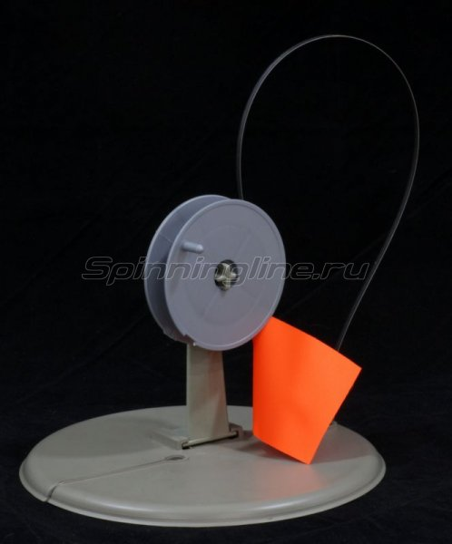 Жерлица Три Кита круглая с прямой стойкой в сумке серая (упак. 10шт) - фотография 1