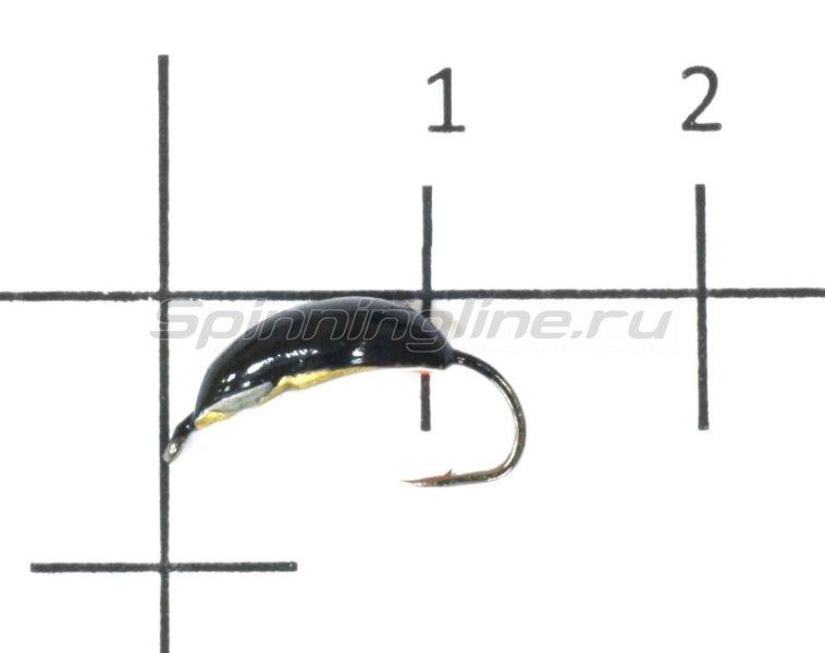 Окский берег - Мормышка Кобра рифленая узкая d3 латунь - фотография 1