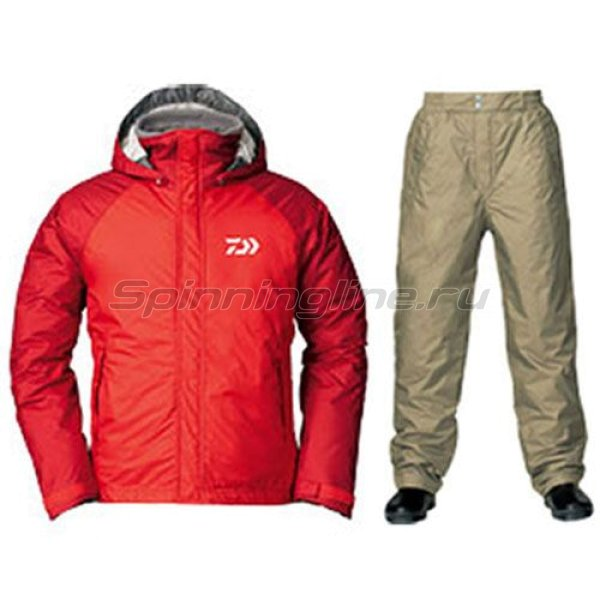 Костюм Daiwa Rainmax Winter Suit Fire Red L - фотография 1