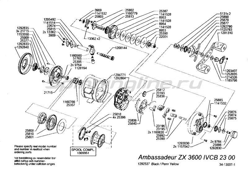 Катушка Ambassadeur Morrum ZX 3600 -  5