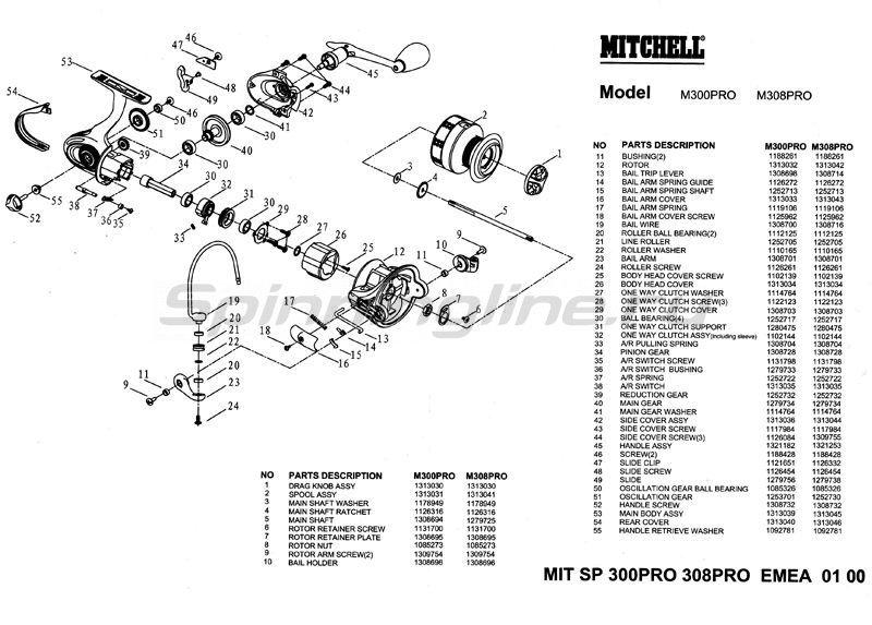 Катушка Mitchell 300 Pro уценка 1 - фотография 9