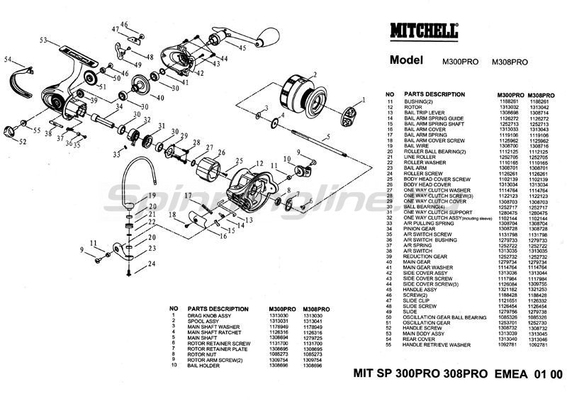 Катушка Mitchell 300 Pro New -  9