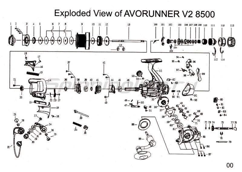 Mitchell - Катушка Avorunner V2 8500 - фотография 5