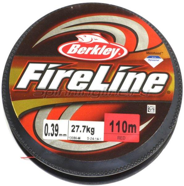 Шнур FireLine Red 110м 0.12мм -  2